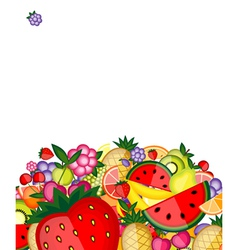 energy fruit background vector image