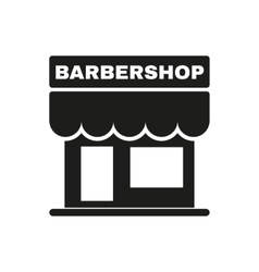 The barbershop building icon barbershop symbol vector