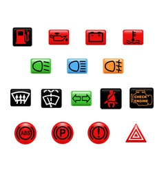 Car warning light vector