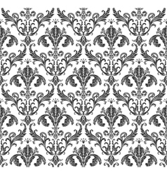 Seamless wallpaper background floral vintage vector image