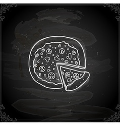 Hand drawn pizza vector