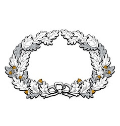 acorn frame border vector image