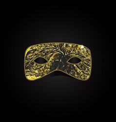 Magic gold mask vector