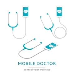 Digital health flat modern of mobile vector