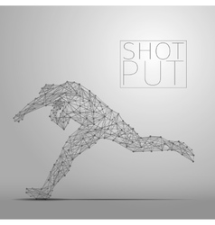Shot putter gray vector