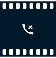 Hang up the phone flat icon vector