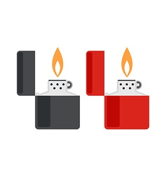 Lighter icon set vector