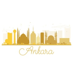 Ankara city skyline golden silhouette vector