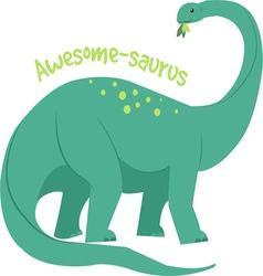 Awesome-saurus vector image