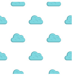 Big cloud pattern flat vector