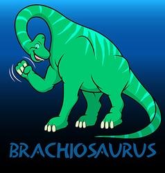Brachiosaurus cute character dinosaurs vector