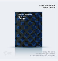 business template brochure design vector image vector image