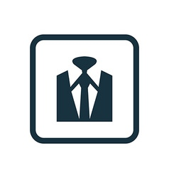 business wear icon Rounded squares button vector image