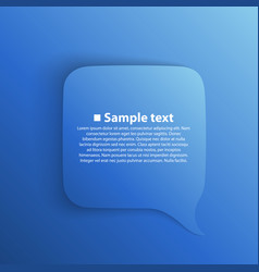 chat background blue vector image