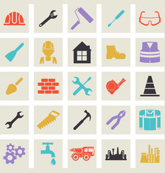 construction tools icon vector image