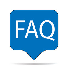 faq icon on white background faq sign flat vector image