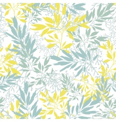 Gray and yellow leaves silhouettes texture vector