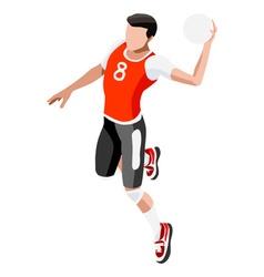 Handball 2016 Sports 3D Isometric vector image vector image