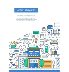 Hotel Services - line design brochure poster vector image vector image