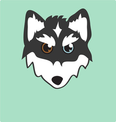 Husky head vector