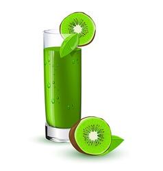Kiwi cocktail vector image
