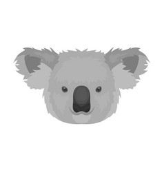 koala icon in monochrome style isolated on white vector image vector image