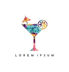 Lounge bar cocktail logotype logo abstract vector