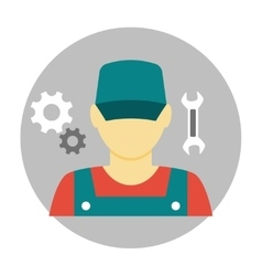 Mechanic avatar icon flat vector image vector image