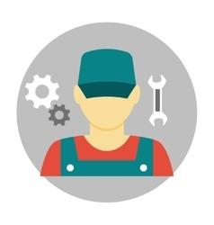 Mechanic avatar icon flat vector image