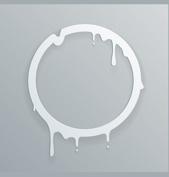 melting paper frame 3d flowing art flux circle vector image