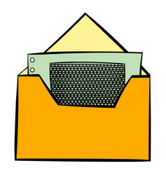 money in envelope icon cartoon vector image