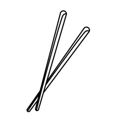 Pair of chopsticks element japan food image vector