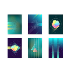 posters card witch color abstract geometric vector image vector image