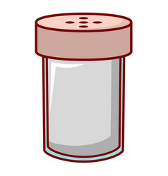 Salt shaker icon cartoon style vector