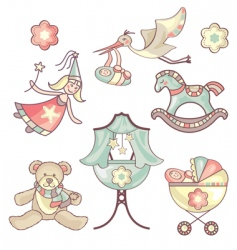 set of baby products vector image vector image
