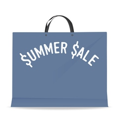 Shopping bag for summer sale vector