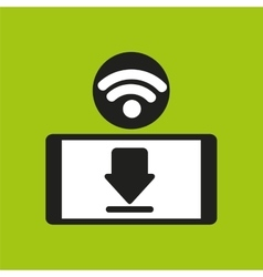 Smartphone wifi internet download icon vector image