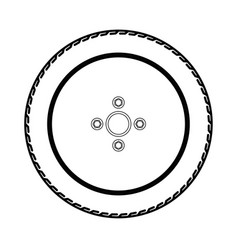 tires and wheels vector image vector image
