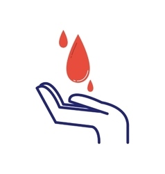 Volunteer blood donation icon vector