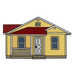 Yellow small house vector image vector image