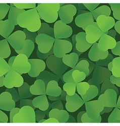 Shamrock seamless background pattern vector image