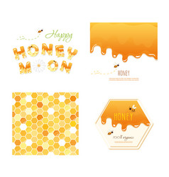 Honeycomb seamless pattern background melted vector