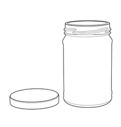 Bottle glass out line vector