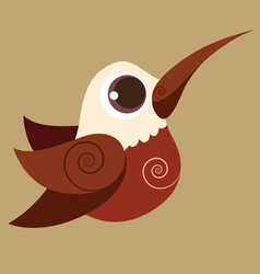 Hummingbird finger cute bird abstrac prehistoric vector