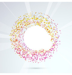Particle bright circle design element vector