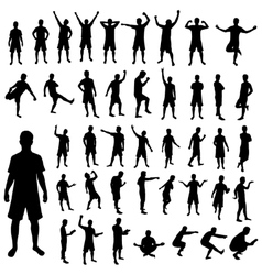 Pose silhouette set vector