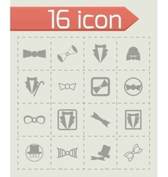Bow-tie icon set vector