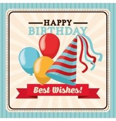 Happy birthday design retro vector