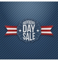 Independence day sale vintage tag vector