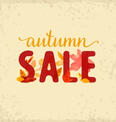 Autumn sale design element vector